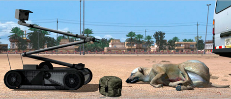 Desactivación de 'perro bomba' en VBS2. | Bohemia Interactive