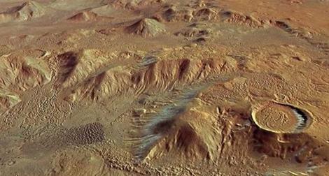 Región de Marte fotografiada por 'Mars Express'.   ESA