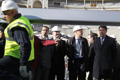 El presidente de la Comunidad de Madrid en Las Ventas.   Paco Toledo