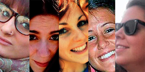 Katia, Cristina, Rocío, Belén y María Teresa
