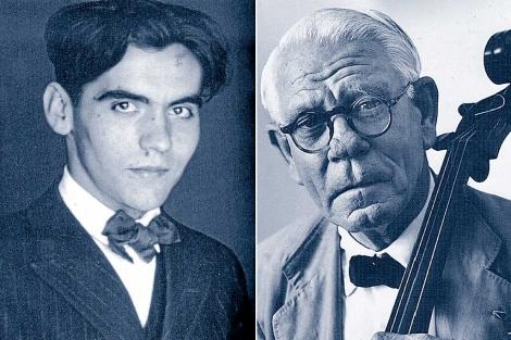 Federico García Lorca y Segismundo Romero Mejías.