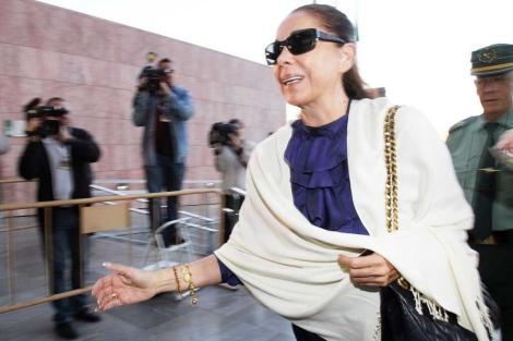 Isabel Pantoja, a su llegada a una comparecencia judicial. | Antonio Pastor