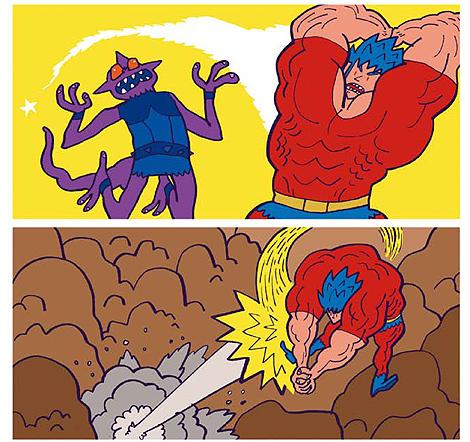 Boken combate a Demoniak en una escena de 'Cosmic Dragon'.