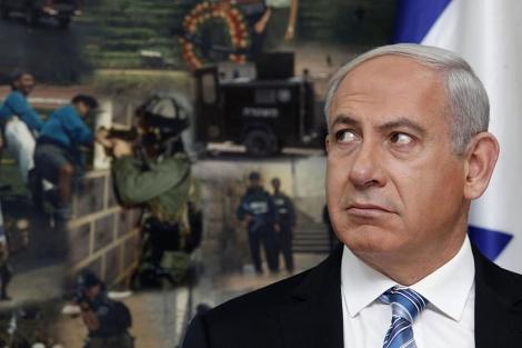 Benjamin Netanyahu, en los cuarteles generales de la policía israelí. | Afp