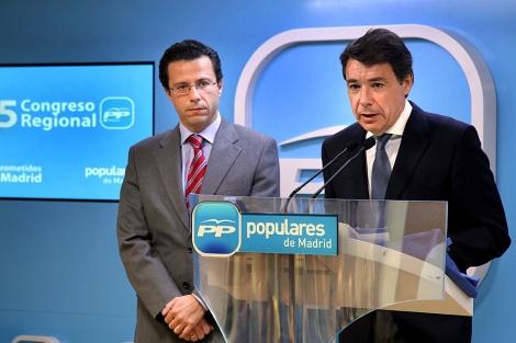 Javier Fernández-Lasquetty junto a Ignacio González.