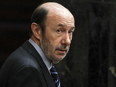 Alfredo Pérez Rubalcaba, el pasado miércoles en el Congreso. | Chema Moya / Efe