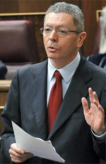 Ruiz-Gallardón, ministro de Justicia. | Efe