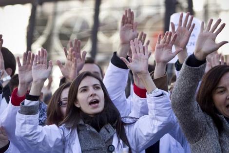 Protesta de los médicos en Sol. | di Lolli