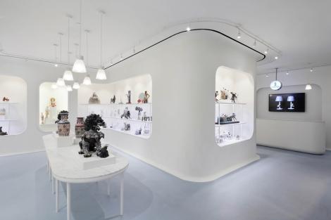 Interior de la nueva tienda de Lladró en Nueva York.