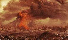 Recreación de una erupción en Venus. | ESA