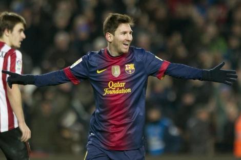 El jugador Leo Messi durante su partido de este miércoles. | Efe
