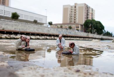 Una fotografía de la intervención artística en el Soho.   ELMUNDO.es