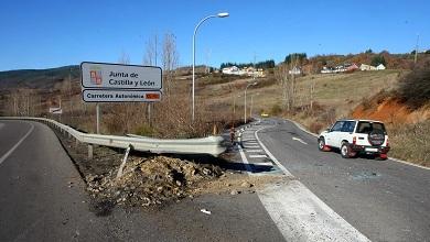 Travesía de la CL-631 en Toreno, lugar del accidente. César Sánchez / Ical