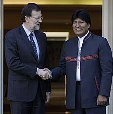 Rajoy recibe a Morales. | Foto: A. Di Lolli.