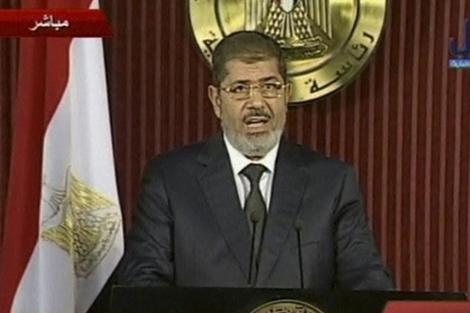 El presidente Mohamed Mursi durante su discurso el pasado 6 de diciembre. | Reuters