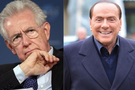 Mario Monti y Silvio Berlusconi.   Afp/Reuters