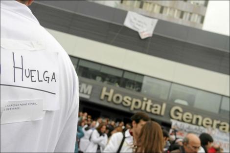 magen de los sanitarios en huelga.| Efe