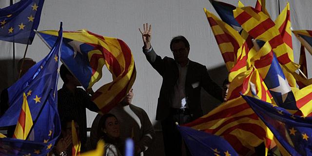 Artur Mas, durante un mitin de CiU. | A. Moreno
