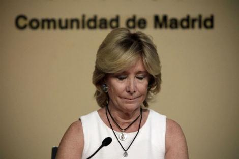 Aguirre, el día de su retirada.