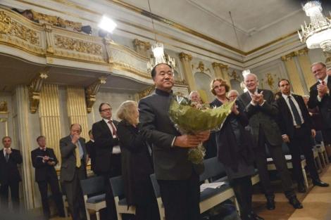 Mo Yan, el jueves pasado, en Estocolmo. | AFP