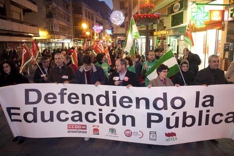 La cabecera de la manifestación en Córdoba. | Madero Cubero