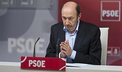 Rubalcaba, este sábado en el Consejo Territorial del PSOE. | G. Arroyo