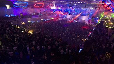 Pista principal del Madrid Arena en la fiesta de Año Nuevo 2010. | R. Cárdenas
