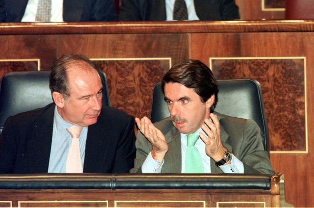 José María Aznar y Rodrigo Rato, en 1999. | Julio Palomar