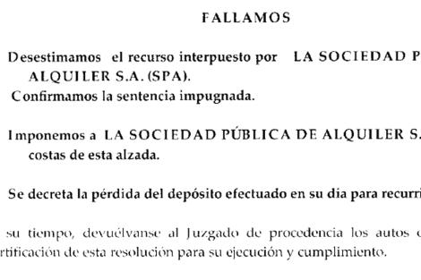 Última página de la sentencia donde se expone el fallo. [Pdf: Auto completo]