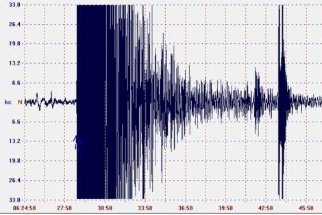 Gráfica obtenida de un sismógrafo | ELMUNDO.