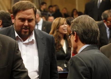 Junqueras y Mas, durante la formación del Parlament. | D. Umbert