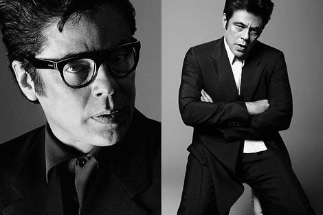 Benicio del Toro en la campaña para Prada.