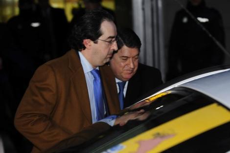 Olivas, a la salida de la Audiencia Nacional.   Bernardo Díaz
