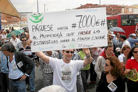 Manifestación en Sevilla contra el plan de calidad de Educación.