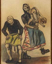 'Máscaras con muñeco', de Solana.