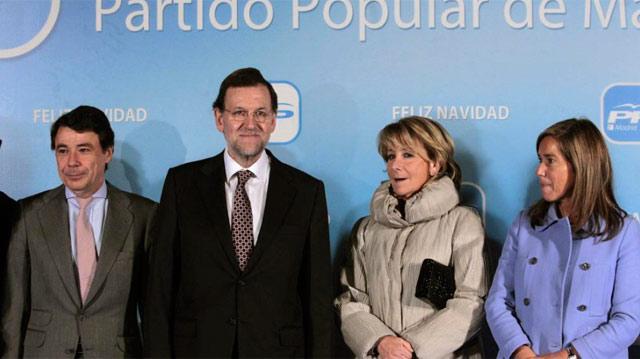 Esperanza Aguirre en la cena de Navidad del PP.   Efe