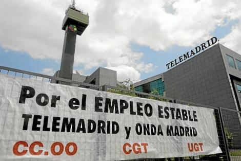Fachada de la sede de Telemadrid.