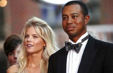 Tiger Woods y su ex mujer, Elin Nordegren.