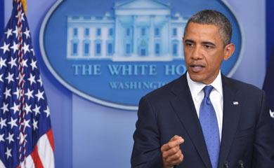El presidente Barack Obama en su comparecencia de este sábado. | Afp