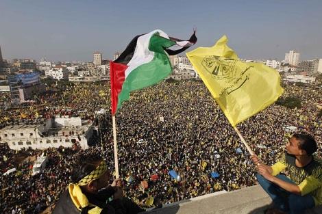 Los seguidores de Al Fatah en Gaza. VEA MÁS FOTOS
