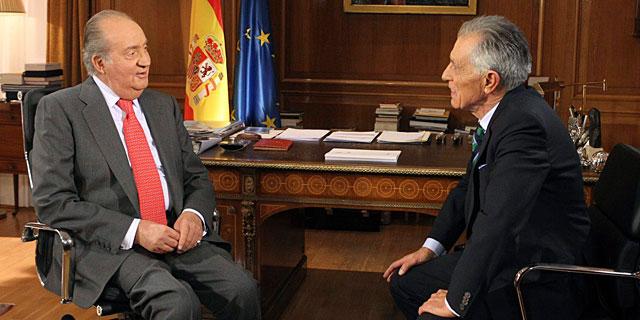 Don Juan Carlos, durante la entrevista. | Efe