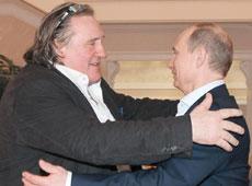 Depardieu y Putin, ayer en Sochi. | Efe
