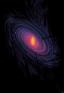 Ilustración de sistema protoplanetario | NASA