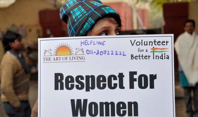 Protesta contra la violación de una joven en la India.   Efe