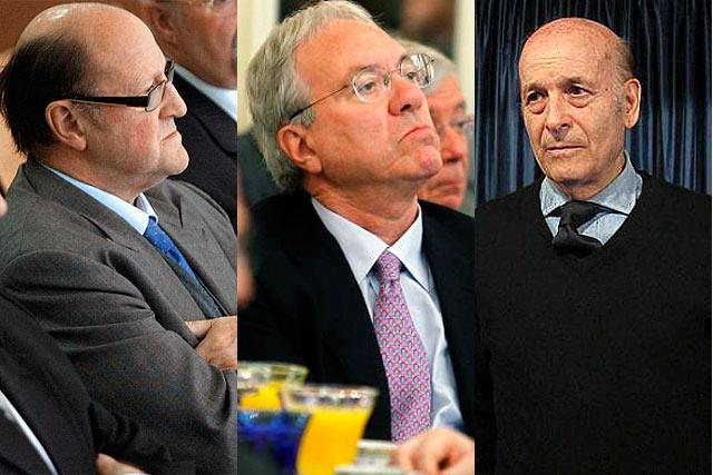 José María Servitje (UDC), José Barrionuevo (PSOE) y Juan Hormaechea (PP), tres políticos indultados.