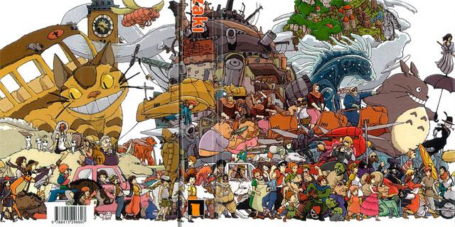 Detalle de la portada de 'El mundo invisible de Hayao Miyazaki' (Dolmen Editorial). MÁS IMÁGENES
