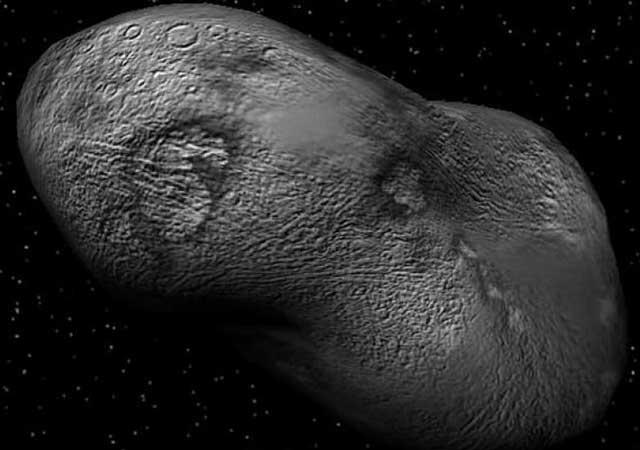 Recreación del asteroide Apophis. | El Mundo