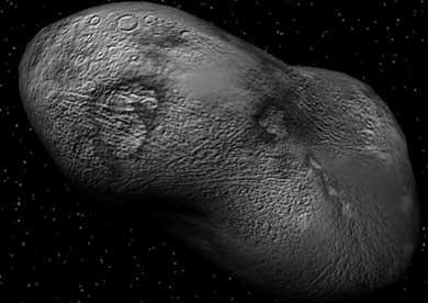 Recreación del asteroide Apophis.   El Mundo