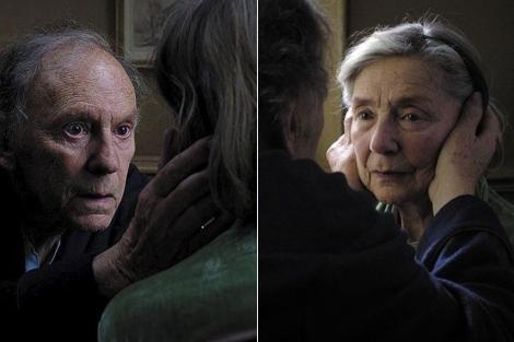 Trintignant y Riba, en una escena de 'Amor'.