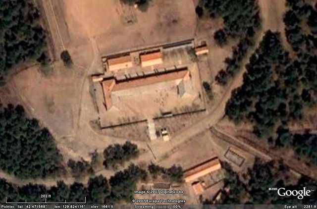 Edificación de entrada al campo 22 detectada por el activista Joshua Stanton. | freekorea.us